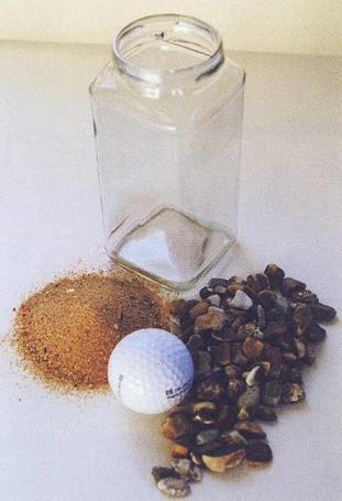 philosophy-experiment-with-golf-balls-pebbles-sand-and-coffee