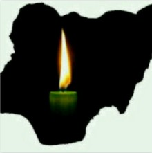 Map of Nigeria in the dark...