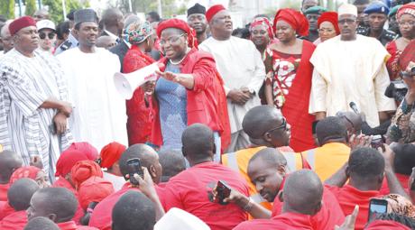 Tanimu-Turaki-Labaran-Maku-Oby-Ezekwesili-SGF-Anyim-Pius-Anyim-FCT-Oloye-Jumoke-Akinjide-FCT-Bala-Mohammed-Bring-Back-Our-Girls-rally-coordinated-by-the-Ezekwesili-in-Abuja-yesterday
