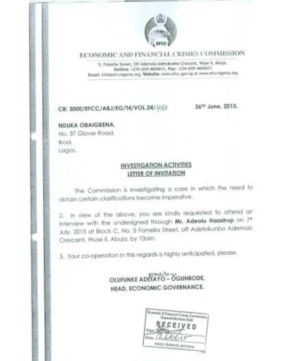 AFC- Nduka Obaigbena-letter-jide-salu