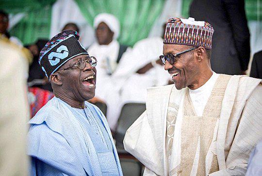 President Buhari with Tinubu