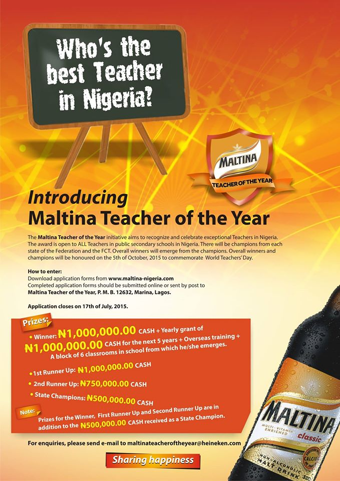 [RECOMMENDED READING] An adventure to discover the best teacher in Nigeria. Drama Galore…lol!