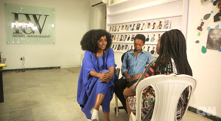 TY Bello with Jumoke interviewed on CNN by Stephanie Busari