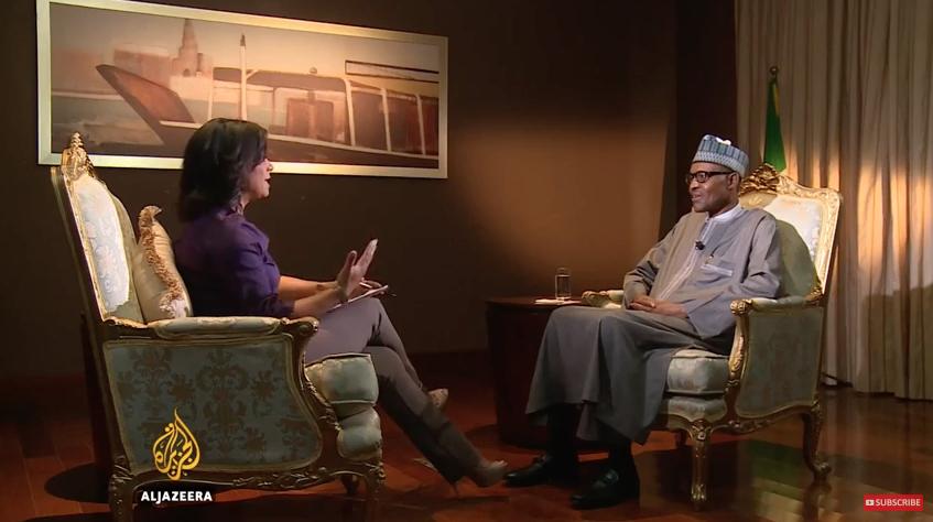 President Buhari talks to Al Jazeera