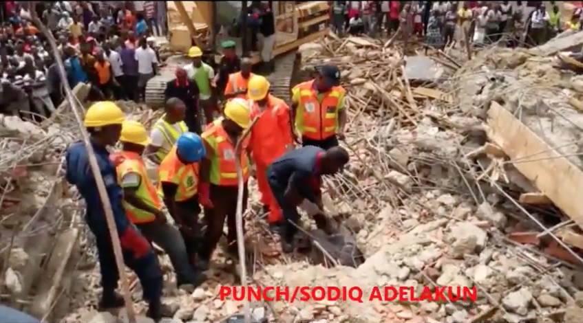 Five-Storey building collapse at Lekki-jide-salu