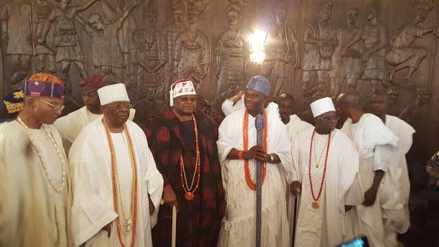 Toni with Yoruba Obas