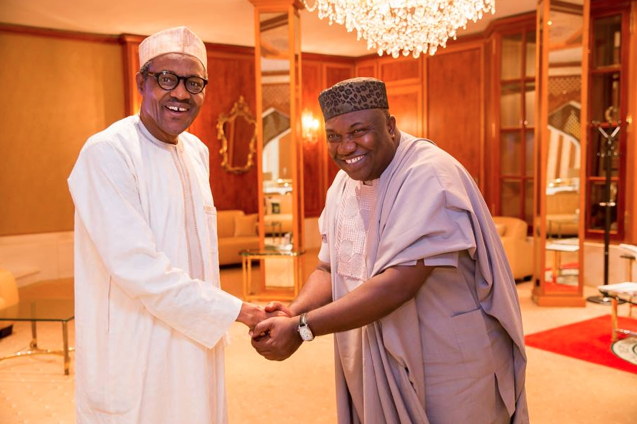 Enugu State Governor H.E. Ifeanyi Ugwuanyi very pleased to meet his President