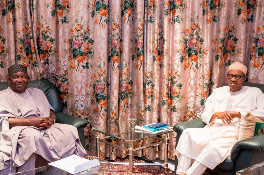President Buhari with  Enugu State Governor H.E. Ifeanyi Ugwuanyi
