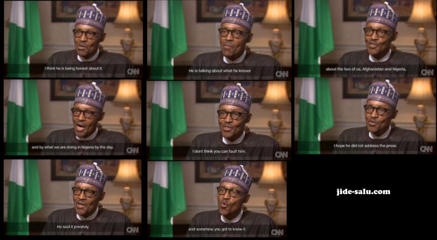 Buhari on Amanpour on CNN