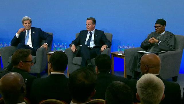 President Buhari, David Cameron and John Kerry