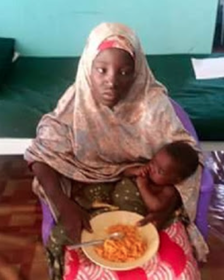 Amina Nkeki and her baby