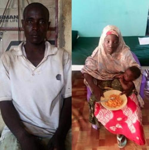 Amina Nkeki and her baby-boko-haram-husband-jide-salu