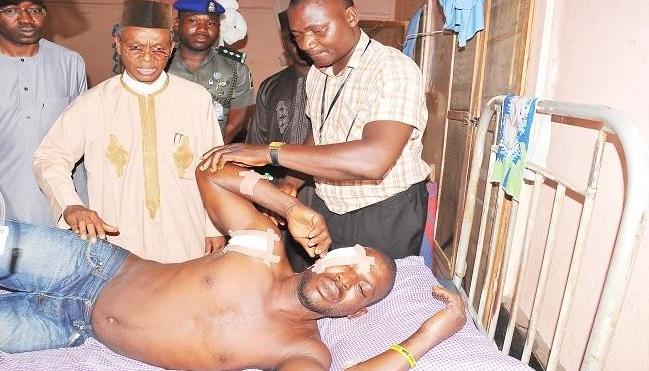 Francis Emmanuel was beaten up in Kaduna