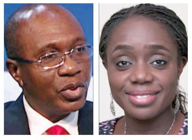 Governor Godwin Emefiele and Finance Minister Kemi Adeosun