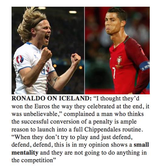 Ronaldo on Iceland -euro-2016-jide-salu