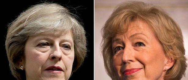 Andrea Leadsom-Theresa May -jide-salu