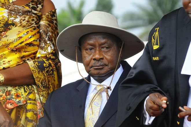 Ugandan President Yoweri Museveni has been in power for 30 years.
