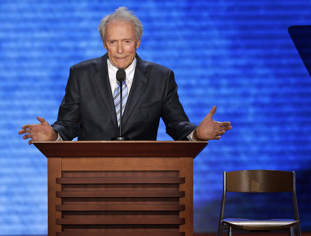 Actor Clint Eastwood addresses the Republican National Convention in Tampa, Fla., on Thursday, Aug. 30, 2012. (J. Scott Applewhite | AP)