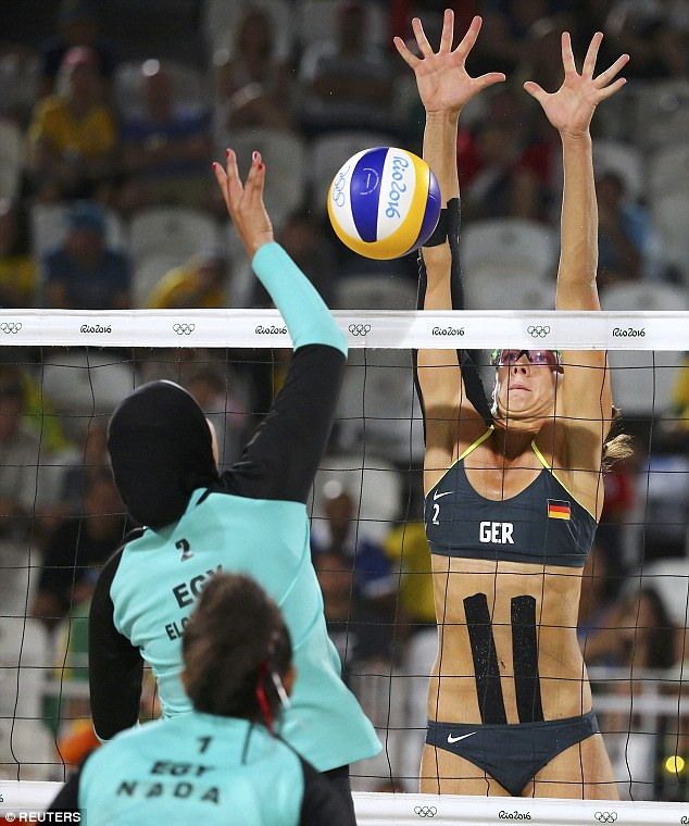 Egyptian and German beach volleyball-jide-salu