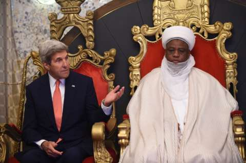 John Kerry meets with the Sultan of Sokoto