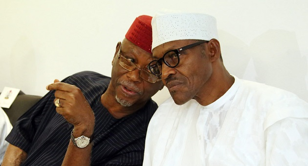 APO Chairman John Oyegun with President Buhari