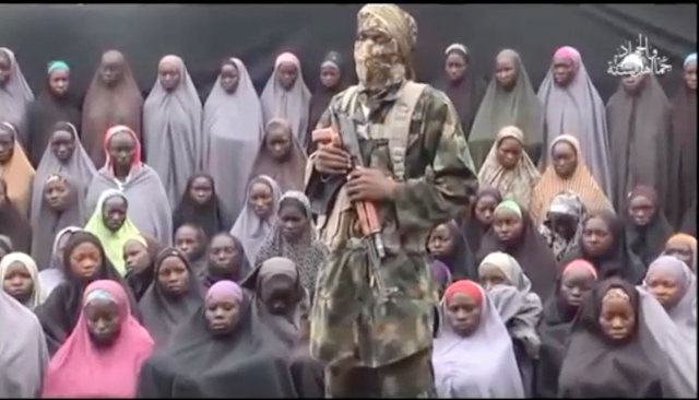 A still image from a video posted by Nigerian Islamist militant group Boko Haram on social media.Photo: Jide Salu