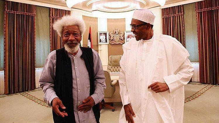 Professor Soyinka with President Buhari
