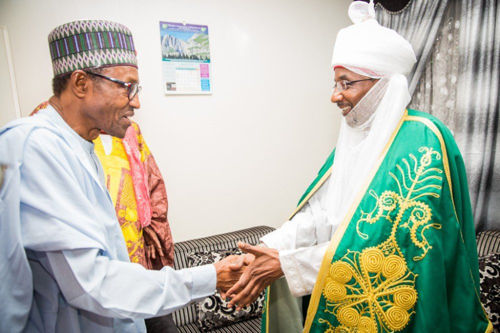 President Buhari with Emir of Kano.
