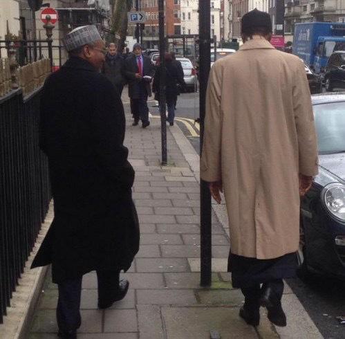 Buhari with Mamman Daura, in London.