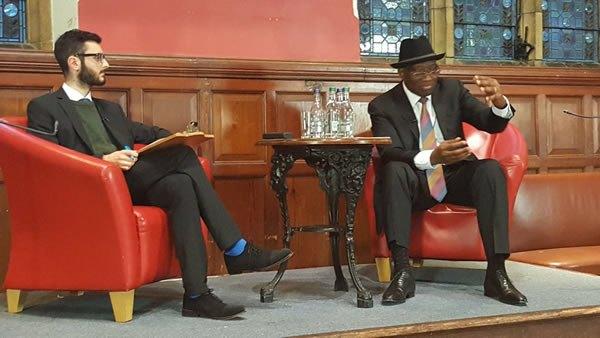 Goodluck Jonathan at Oxford University.