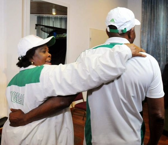 Former President Goodluck with his wife Patience