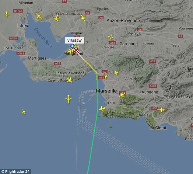 Five hours into the journey, flight VS652 issued an alert and diverted to Marseille Provence Airport.